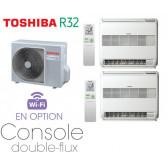 Toshiba CONSOLE DOUBLE-FLUX Bi-Split RAS-2M18U2AVG-E + 2 RAS-B10U2FVG-E