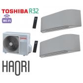 Toshiba HAORI Bi-Split RAS-2M18U2AVG-E + 2 RAS-B10N4KVRG-E