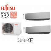 Fujitsu Bi-Split Mural AOY40MI-KB + 2 ASY20MI-KE Silver