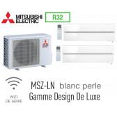 Mitsubishi Bi-split Mural Design De Luxe MXZ-2F53VF + 2 MSZ-LN25VGV - R32