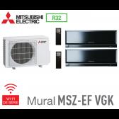 Mitsubishi Bi-split Mural Inverter Design MXZ-2F42VF + 2 MSZ-EF22VGKB