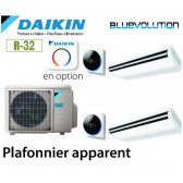 Daikin Plafonnier apparent Bisplit 2MXM68N + 2 FHA35A9 - R32