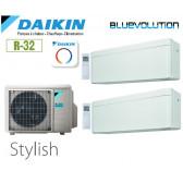 Daikin Stylish Bisplit 2MXM40N + 2 FTXA20AW - R32