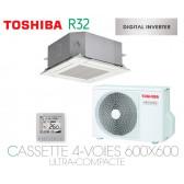 Toshiba Cassette 4-Voies 600x600 Ultra-Compacte DI RAV-RM561MUT-E