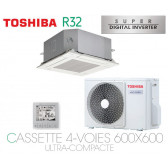 Toshiba Cassette 4-Voies 600x600 Ultra-Compacte SDI RAV-RM561MUT-E