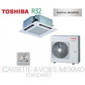Toshiba Cassette 4-Voies 840X840 STANDARD DI RAV-RM1401UTP-E monophasé