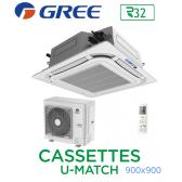 GREE Cassete U-MATCH 900x900 UM CST 36 R32