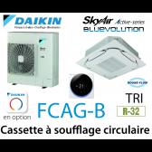 Daikin Cassette 8 voies «Round Flow» Active FCAG140B triphasé