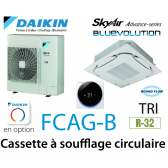 Daikin Cassette 8 voies «Round Flow» Advance FCAG125B triphasé