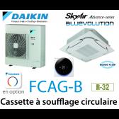 Daikin Cassette 8 voies «Round Flow» Advance FCAG140B monophasé