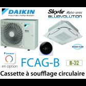 Daikin Cassette 8 voies «Round Flow» Alpha FCAG100B monophasé