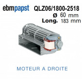 Ventilateur Tangentiel QLZ06/1800-2518  de EBM-PAPST