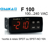 Thermostat numérique F 100 Red de Osaka en 100...240 VAC