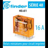 Relais miniature pour circuit imprimé 40.61.8.230.0000 de Finder