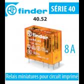 Relais miniature pour circuit imprimé 40.52.8.230.0000 de Finder