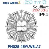 Ventilateur hélicoïde FN025-4EW.W8.A7 de Ziehl-Abegg