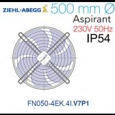 Ventilateur hélicoïde FN050-4EK.4I.V7P1 de Ziehl-Abegg