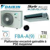 Daikin Plafonnier encastré gainable à PSE moyenne Alpha FBA125A triphasé