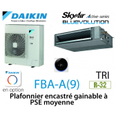 Daikin Plafonnier encastré gainable à PSE moyenne Active FBA125A triphasé