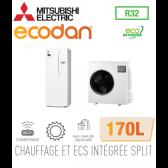 Ecodan duo 8 Eco Inverter CHAUFFAGE SEUL + ECS 170L EHST17D-VM2D + SUZ-SWM80VA