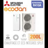 Ecodan duo 16 CHAUFFAGE SEUL + ECS 200L EHST20C-VM2D + PUHZ-SW120VHA