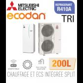 Ecodan duo 16 CHAUFFAGE SEUL + ECS 200L EHST20C-VM2D + PUHZ-SW120YHA