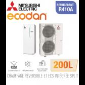 Ecodan duo 16 réversible 200L ERST20C-VM2D + PUHZ-SW120VHA