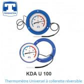 Thermomètre Universel à collerette réversible  KDA U 100