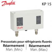 Pressostat double manuel/manuel - 060-124566 - Danfoss