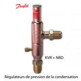 Régulateurs de pression de la condensation KVR + NRD de Danfoss