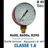 Manomètre HP pour R290 - R600 - R600A