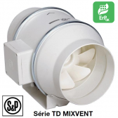 Ventilateur de conduit TD-MIXVENT - TD-500/150 3V de S&P
