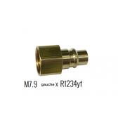 Adaptateur pour bouteille M7.9 gauche F X Prise rapide R1234yf