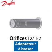 Orifice pour détendeur T 2/TE 2 Adaptateur à braser nº 0X Code 068-2089 Danfoss