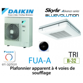 Daikin Plafonnier apparent à 4 voies de soufflage Advance FUA100A triphasé