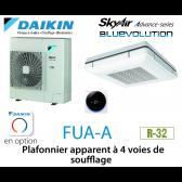 Daikin Plafonnier apparent à 4 voies de soufflage Advance FUA100A monophasé
