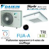 Daikin Plafonnier apparent à 4 voies de soufflage Alpha FUA125A triphasé