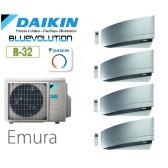 Daikin Emura Quadrisplit 4MXM80N9 + 3 FTXJ20MS + 1 FTXJ35MS - R32
