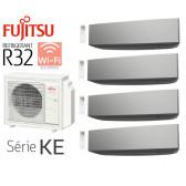 Fujitsu Quadri-Split Mural AOY80M4-KB + 2 ASY20MI-KE Silver + 1 ASY25MI-KE Silver + 1 ASY40MI-KE Silver