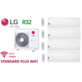 LG Quadri-Split STANDARD PLUS WIFI MU4R25.U40 + 3 X PM05SP.NSJ + 1 x PC12SQ.NSJ - R32