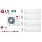 LG Quadri-Split STANDARD PLUS WIFI MU4R25.U21 + 3 X PM05SP.NSJ + 1 x PC12SQ.NSJ - R32