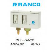 "Pressostat double manuel/auto ""Ranco"" 017H4705"