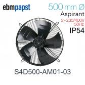 Ventilateur hélicoïde S4D500-AM01-03 de EBM-PAPST