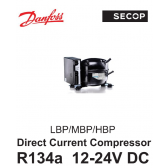 Compresseur Danfoss / Secop BD50F - R134A, 12-24V DC, avec MODULE