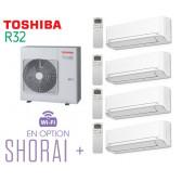 Toshiba SHORAI + Quadri-Split RAS-4M27U2AVG-E + 3 RAS-B07J2KVSG-E + 1 RAS-B13J2KVSG-E