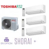 Toshiba SHORAI + Tri-Split RAS-3M18U2AVG-E + 3 RAS-B07J2KVSG-E