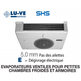 Evaporateur pour armoires et petites chambres SHS 15E de LU-VE - 1040 W
