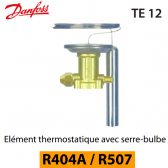 Elément thermostatique TES 12 - 067B3347 - R404A, R449A, R407A, R452A/R507 Danfoss