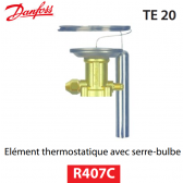 Elément thermostatique TEZ 20 - 067B3371 - R407C Danfoss