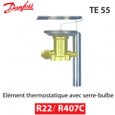 Elément thermostatique TEX 55 - 067G3205 - R22/R407C Danfoss